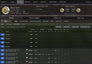 Yahoo Fantasy Football Draft