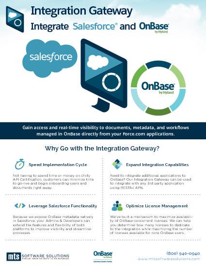 Brochure - Integration Gateway - Integrating OnBase & Salesforce